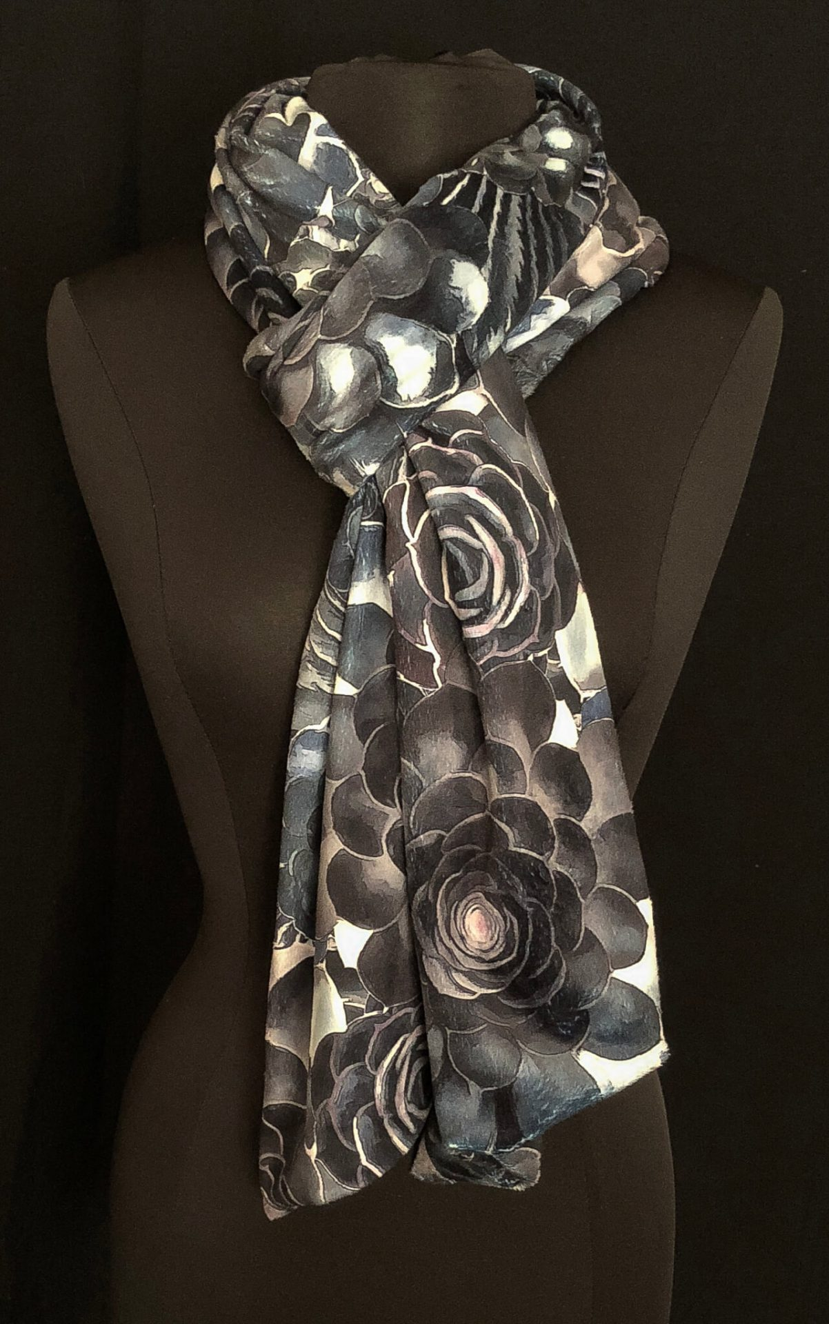 ed65c5d6c45b Succulent Garden Tapestry Stormy Skies Extra Long Plush Minky Scarf ...