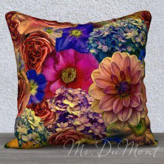 Vibrant Garden Pillow
