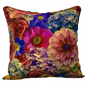 English garden dahlia rose hydrangea pillow cover