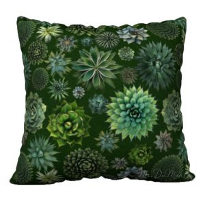 Succulent Cactus pillow cover