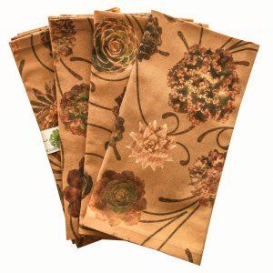 Succulent cactus napkin