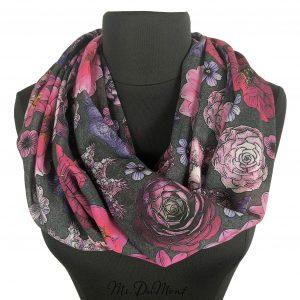 succulent botanical scarf