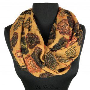 succulent chiffon cowl scarf