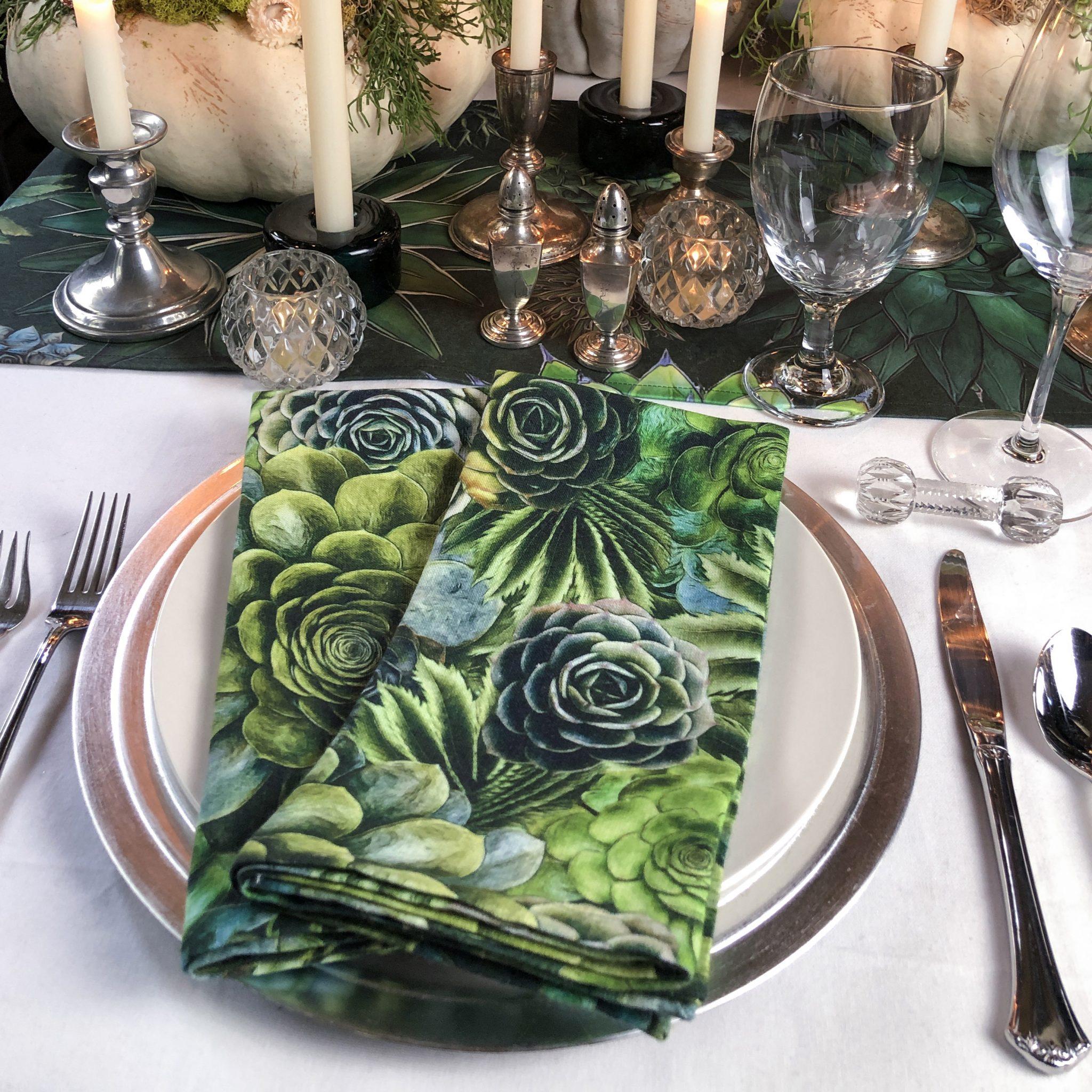 Organic succulent towel