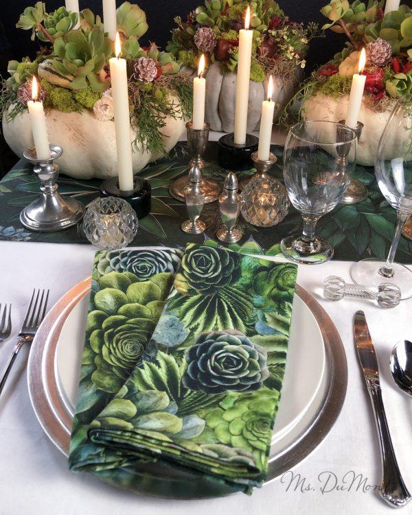 succulent linen napkins