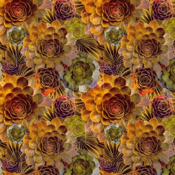 Autumn floral linen napkin