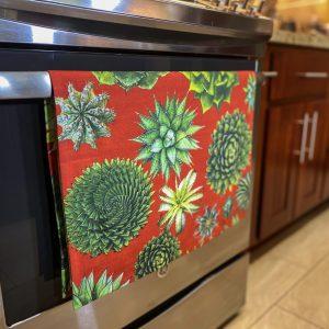 succulent cotton organic towel