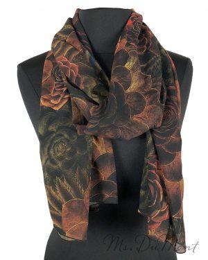 chiffon succulent scarf