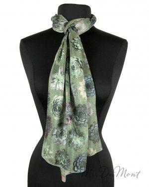 silk succulent scarf
