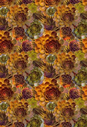 autumn succulent tea towel