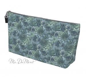 floral succulent makeup bag