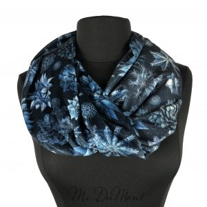 succulent floral cowl scarf