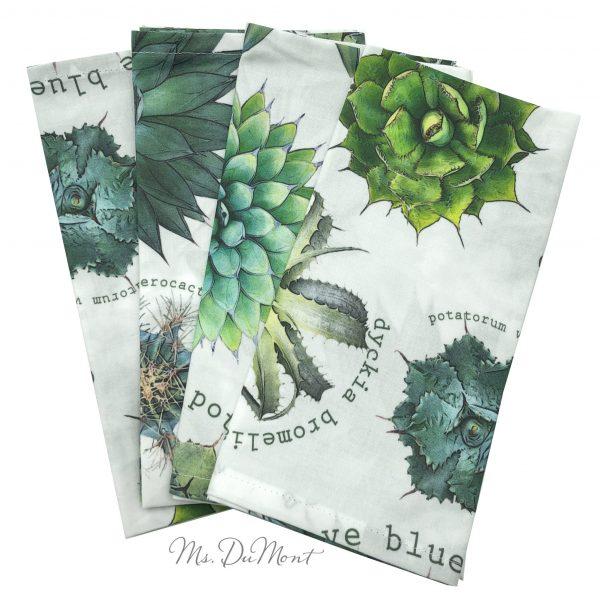 botanical cotton succulent napkins