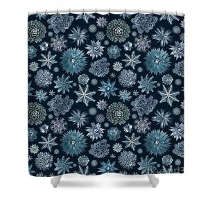succulent floral shower curtain