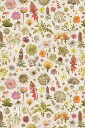 Floral cotton linen towel