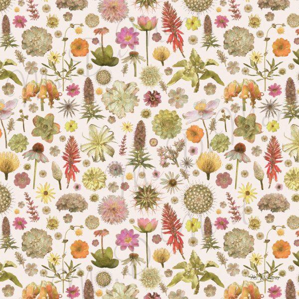 Floral linen napkin