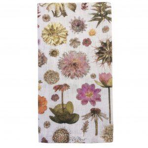 botanical linen napkin
