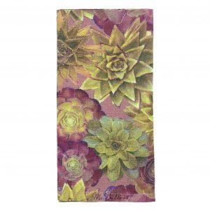 Floral cactus napkin