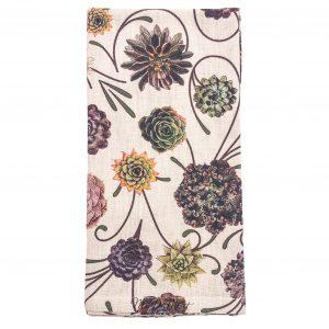 Floral succulent napkin