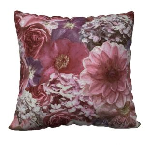 Flower hydrangea garden pillow
