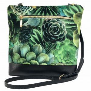 Succulent Cactus Crossbody Bag