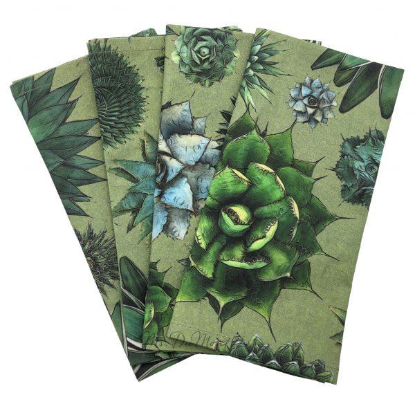 cotton succulent cactus napkin