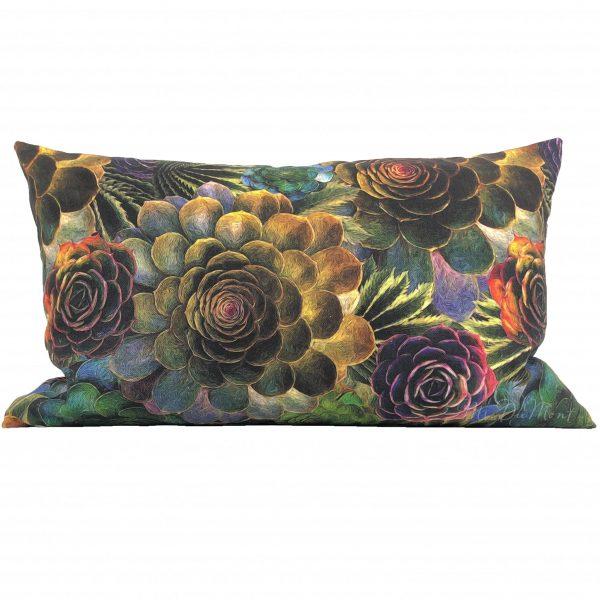 linen lumber succulent cactus pillow