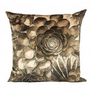 succulent cactus velvet pillow