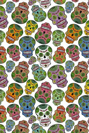 day of dead towel