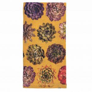 echeveria succulent linen napkin