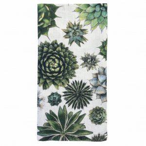 spiky cactus linen napkin