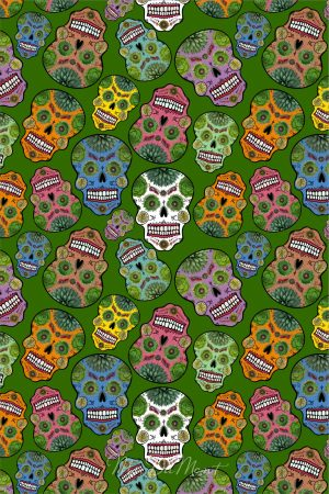 day of the dead cactus towel