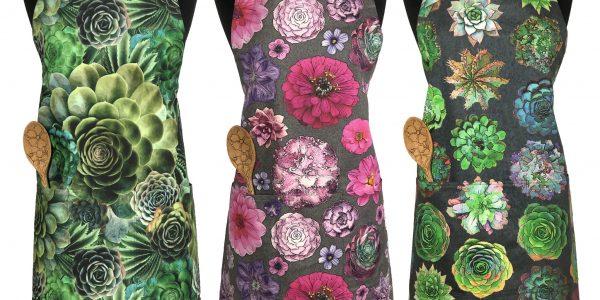 succulent floral apron