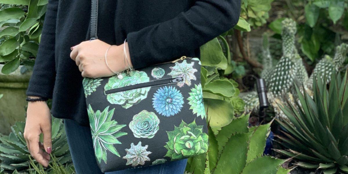succulent crossbody bag